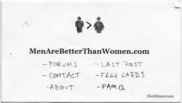 Men Are Better Than Women
