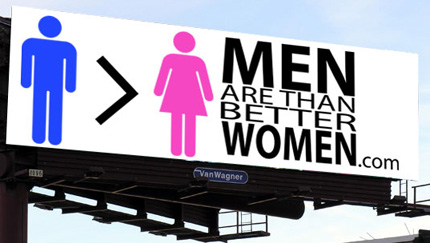 The MenAreBetterThanWomen.com billboard
